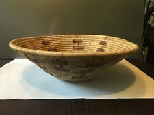 """Tightly Woven Reed Basket Tan Brown Design Wall Decor ~ 13"""" x 4"""" ~ Vintage"""