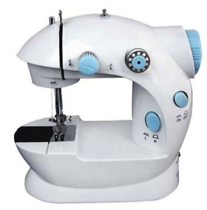 Mini Sewing Machine with Double Threads and Two Speed Control (Blue) + Warranty
