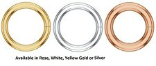 14K Solid Gold Round Open Jump Rings 18 Gauge 1mm Thick Chain End Range 3-9mm ID