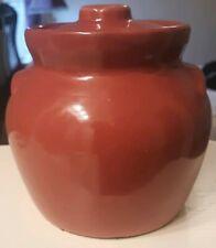 Vintage Stoneware Bean Pot Crock ROYCROFT Products Co. Aurora~N.Y. (4.5
