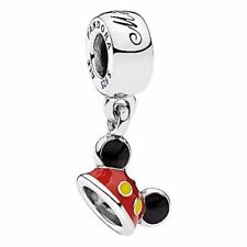 Authentic Pandora Charm Disney Parks Mickey Ear Hat 792121ENMX Dangle bead
