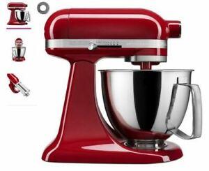 KitchenAid Artisan Mini 3.5 Quart Tilt-Head Stand Mixer, Empire Red (KSM3316XER)