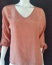 HALLHUBER Mujer Camiseta SEDA armschleife roset TALLA 42/UK14 NUEVO