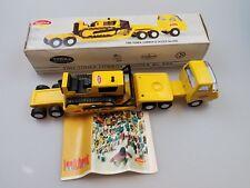 Vintage Tiny Tonka Lowboy And Dozer No.695 Steel Truck w/ Box NICE