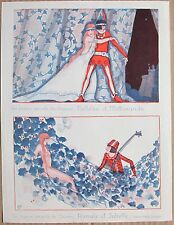 JAQUELUX 1926 French Le Sourire Print LOVE STORY ROMEO JULIET PELLEAS MELISANDE