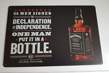 JACK DANIELS OLD NO 7 DECLARATION OF INDEPENDENCE ADVERTISING TIN SIGN NEW.