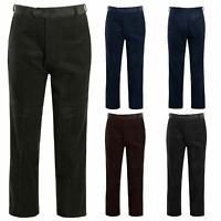 Mens Casual Cord Corduroy Cotton Classic Formal Trousers Pants Big Size 30-50