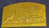 Rare old French Bronze plaque Association Francaise Pour La Defense Des Animaux