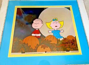 Peanuts Cel Great Pumpkin Charlie Brown Halloween Night Signed Bill Melendez