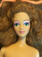 Barbie Doll and The Rockers Diva Real Dancing Action 1986 Nude OOAK Upcycle