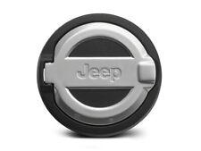2018-2020 Jeep Wrangler Satin Aluminum Fuel Door MOPAR #82215122----NEW!