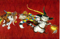 Puss in Boots Cat modern new unposted postcard by Anton Lomaev