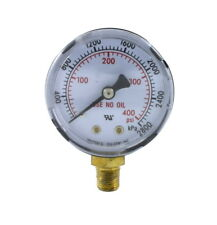 High Pressure Gauge For Acetylene Regulator 0 400 Psi 2 Inches 18 Npt Thread