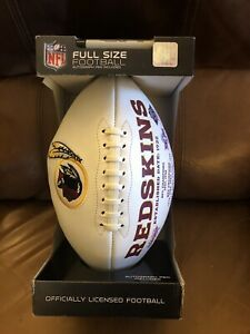 NIP Washington Redskins NFL Officially Licensed Football Full Size autograph pen