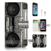 ( For iPhone 6 / 6S ) Wallet Case Cover P0712 Retro Radio