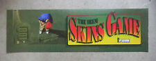 """skins game irem    25 - 7 3/4"""" arcade game sign marquee cF44"""