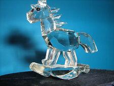 Cavallo a Dondolo in Cristallo Bomboniera Completa di Astuccio e Sacchettino