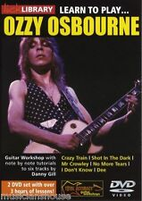 LICK LIBRARY Learn to Play OZZY OSBOURNE Crazy Train Rock Dee Metal GUITAR DVD