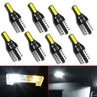 10X LED License Plate Interior Wedge Light Bulbs Bright White T10 194 168 CANBUS