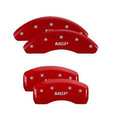 MGP 4 Caliper Covers Red Engraved Front & Rear For 2018 Toyota Camry L / LE / SE