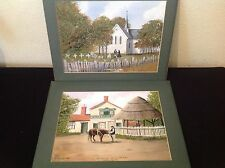 CANVEY ISLAND WATERCOLOURS X 2