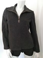 Petite Sophisticate Womens Blazer Coat Jacket Size 4 Gray Full Zip Wool Cashmere