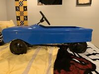 Vintage AMF Pacer Pedal Car Metal BLue - Semi-Restored