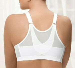 Hard-To-Find POSTURE Bra 38D FRONT-CLOSE Plus-Size Support WIDE-STRAP White NEW