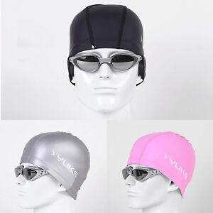 Men Women Adults Lycra with PU Coating Swim Swimming Cap Hat SMC06