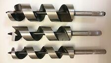 Schlangenbohrer SET 30, 35, 40 mm, 230 - 600 mm, Holzbohrer, Form Lewis