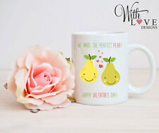 PERFECT PEAR MUG CUP PERSONALISE WEDDING ANNIVERSARY VALENTINES DAY PRESENT GIFT