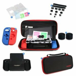 Nintendo Switch Accessories GIFT SET With Nylon Carry Case, Joy Con Grip 7 IN 1