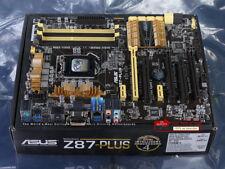 NEW 100% test ASUS Z87-PLUS Motherboard LGA 1150 Intel Z87 DVI HDMI USB3.0 4K
