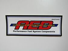 AED Fuel System Sticker Decal New Drag Race Car Hot Rat Rod Toolbox Mechanic Oil