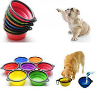 Dog Pets Silicone Bowl Folding Portable for Food Drinking Water Dish Collapsible