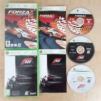 FORZA MOTORSPORT 2 & 3 BUNDLE XBOX 360 PAL COMPLETE WITH MANUALS FREE P&P