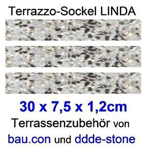 6 Stk.  Terrazzofliese DIANA24  30 x 30 x 2,4cm , sw-ws-rot, Terrazzoboden ddde