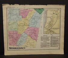 Pennsylvania Susquehanna County Map Middletown Township 1872 W16#09