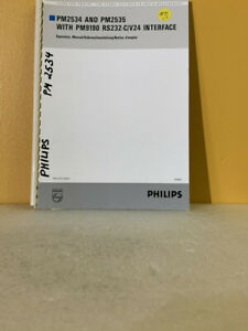 Philips 4822 872 30447 PM2534 & PM2535 (w/ PM9190 RC232-C/V24 Interface)  Manual