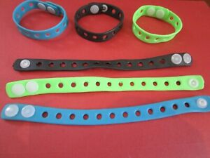 50 x Coloured Adjustable Wristbands. Rubber / Silicon For Jibbitz & Shoe Charms