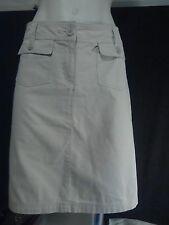 Katies Ladies Skirt in Beige Cotton Size 12