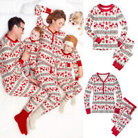 Christmas Family Kids Adult Matching Pajamas PJs Sets Xmas Pyjamas Nightwear UK