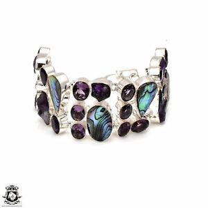 Abalone Shell Amethyst Bracelet B3718