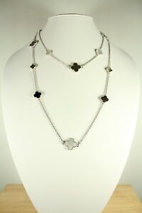 Mix motif mother of pearl necklace