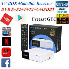 Freesat GTC 4K Android TV BOX Satellite Receiver DVB-T2/S2/C ISDB-T S905D 2+16GB