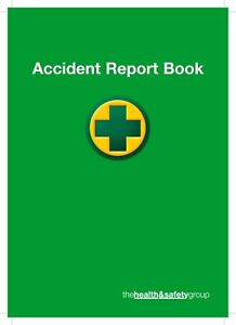 Accident report book - Incident report book (Pack of 5)