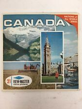 Canada Viewmaster A090 Reels Sawyers Packet Complete w/ Booklet