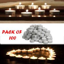 IKEA Pacco di 100 GLIMMA Tè LUCI CANDELE 4 ore tempo di combustione 38mm Wide
