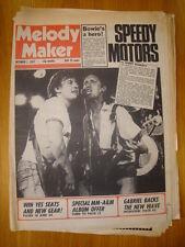 MELODY MAKER 1977 OCT 1 MOTORS DAVID BOWIE YES GABRIEL