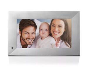 NIX Lux Digital Photo Frame 13.3 inch X13B, Metal Electronic Photo Frame USB2.0